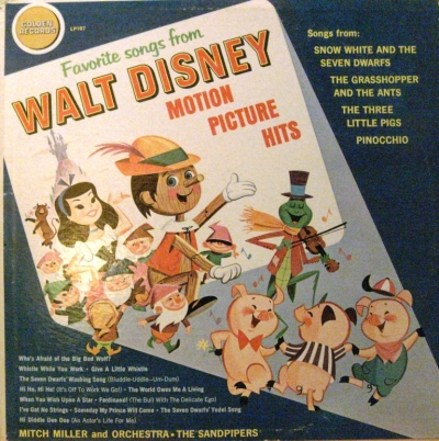LP107 Favorite Songs from Walt Disney Motion Picture Hits