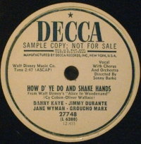 Decca 27748 How D' You Do and Shake Hands